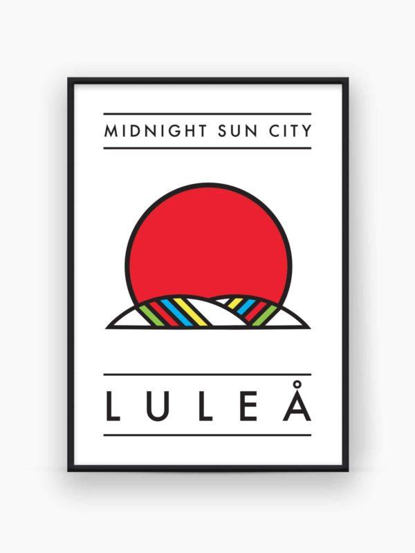 Midnight sun city Luleå poster - Burban Studios
