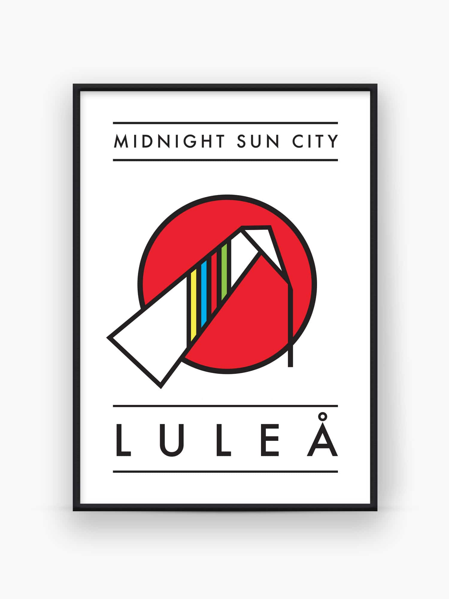 Midnight Sun City Luleå Poster / Affisch / Tavla - Burban Studios