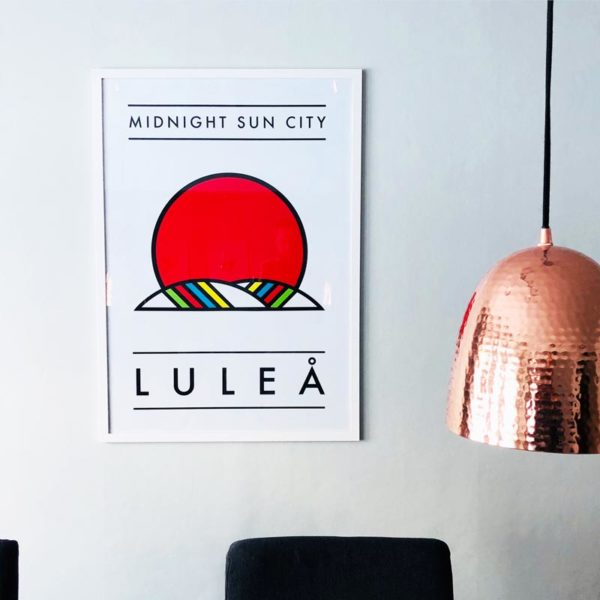 Burban Studios Tavla - Midnight sun city Luleå