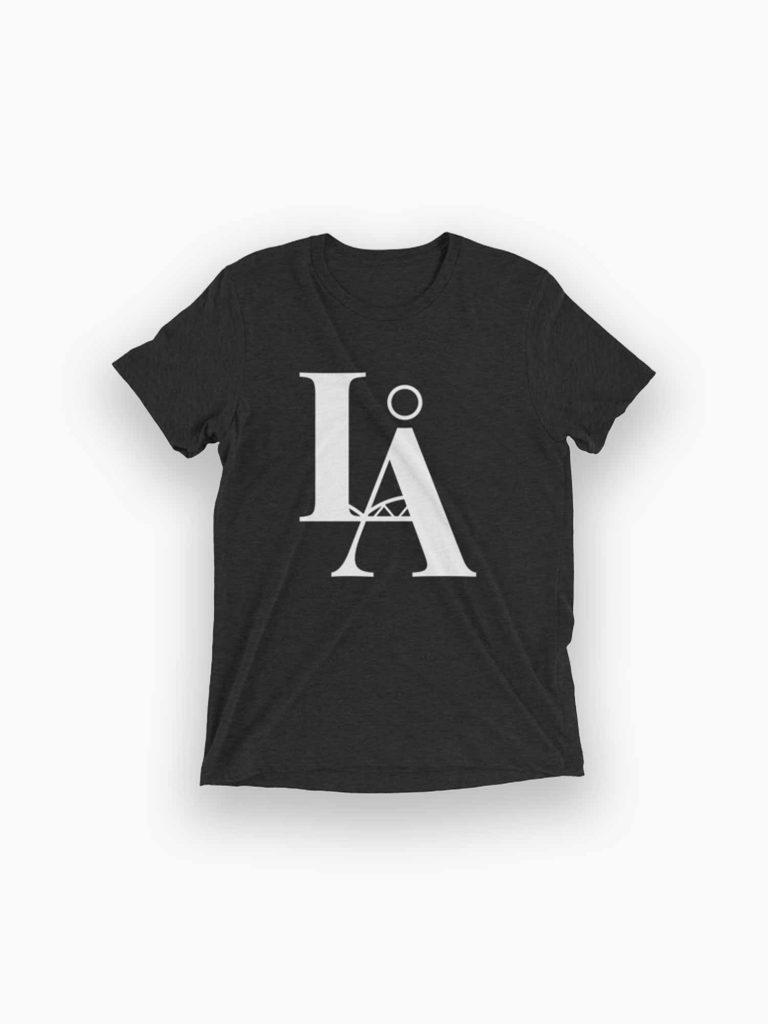 LÅ – T-shirt / Luleå T-shirt – mörkgrå / svart ton