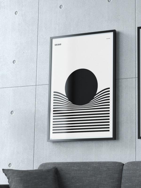 Solbad Burban Studios - Svartvit poster / Tavla