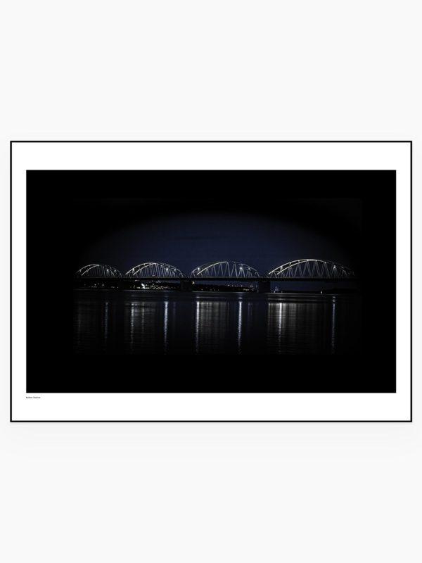 Bergnäsbron - Enkel - Fotografisk Poster / tavla