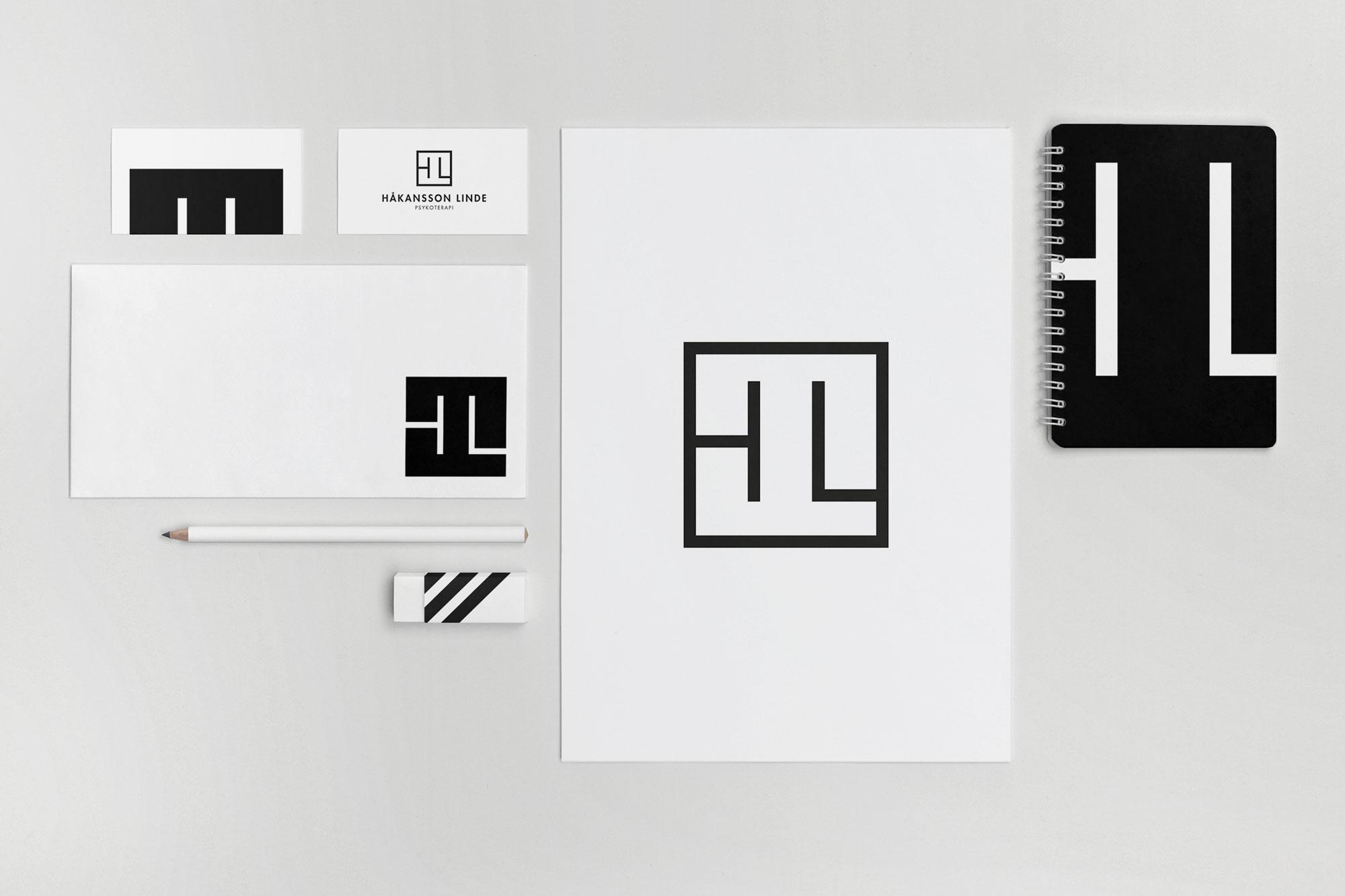 Grafisk profil / Brand identity för Håkansson Linde psykoterapi i Stockholm.