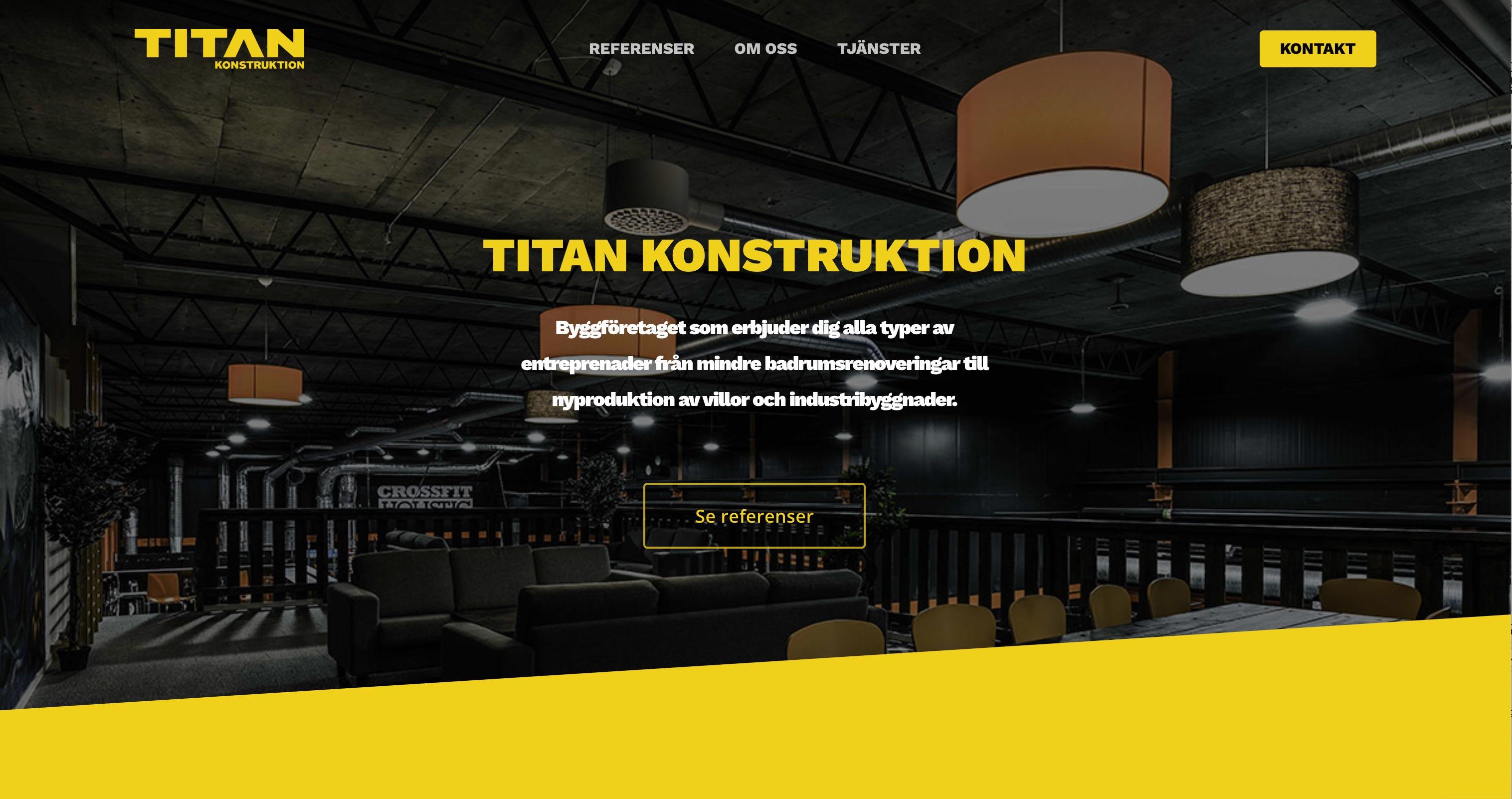 Lanserat: Titan Konstruktion
