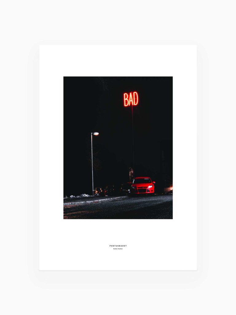 Luleå Tavla / Poster – Bad, Pontusbadet skylt